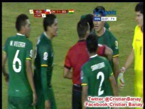 Chile 2 Bolivia 1 (Radio Fides Bolivia) Copa America Centenario 2016