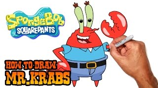 How to Draw Mr.Krabs | Spongebob Squarepants