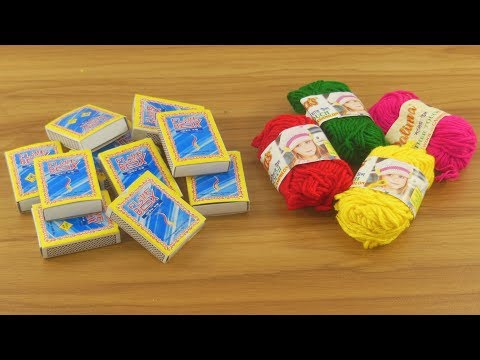 DIY decorating idea with Waste Matchbox & Woolen | Diy home deco | best out of waste