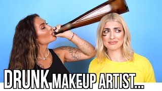 Professional Makeup Artist Gets Drunk And Does My Makeup!