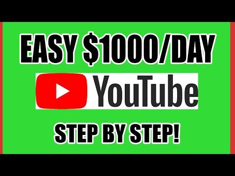 Make $1000 Per Day On Youtube For Broke Beginners Without Recording Videos (Make Money Online)