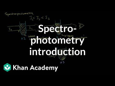 Spectrophotometry introduction | Kinetics | Chemistry | Khan Academy