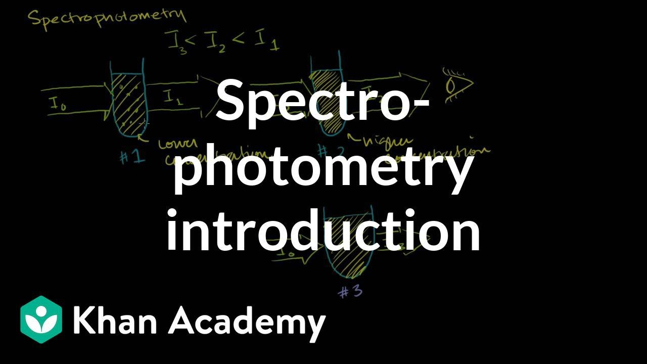 Spectrophotometry introduction (video) | Khan Academy
