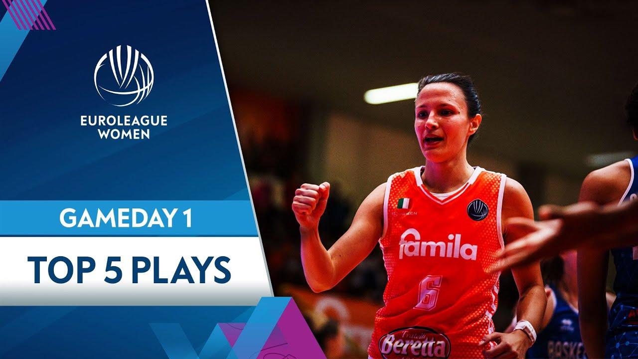 Top 5 plays Gameday 1 | Highlights | EuroLeague Women 2021-22
