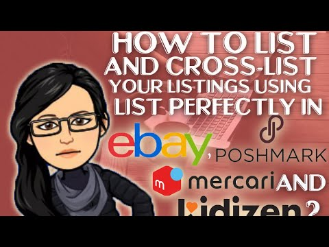 How To List And Cross List Your Listings Using List Perfectly In Ebay Poshmark Mercari Kidizen Youtube Are you listing like nobody's business?! youtube