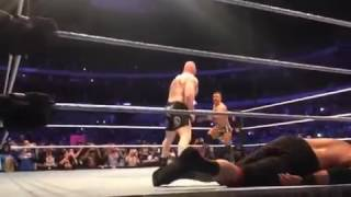 Brock lesnar destroyed participants of the eight man match at wwe live event 2017