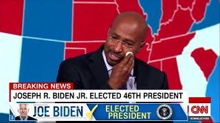 Vor laufender Kamera: CNN-Moderator bricht nach Bidens Sieg in Tränen aus