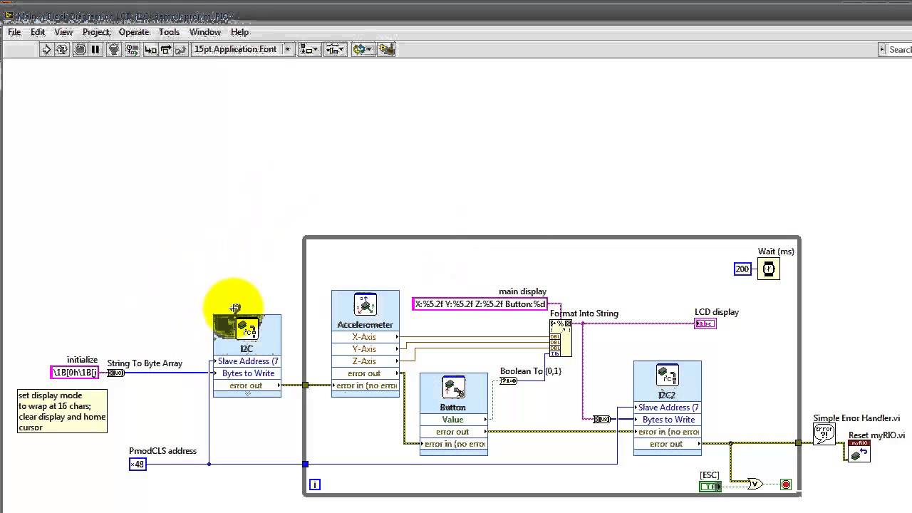 Ni Myrio Quot Lcd I2c Demo Quot Labview Project Youtube