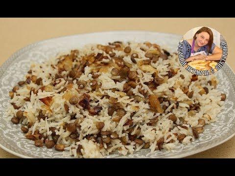 Маджадра(Mujadrah), это Ближневосточное блюдо. Рис с чечевицей, очень полезно. Постный рецепт.