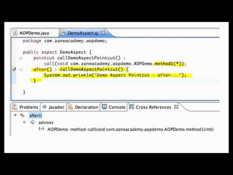 Aspect Oriented Programming (AOP) with AspectJ [2/2]
