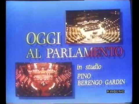 Raiuno oggi al parlamento sigla 18 dicembre 1990 for Oggi in parlamento