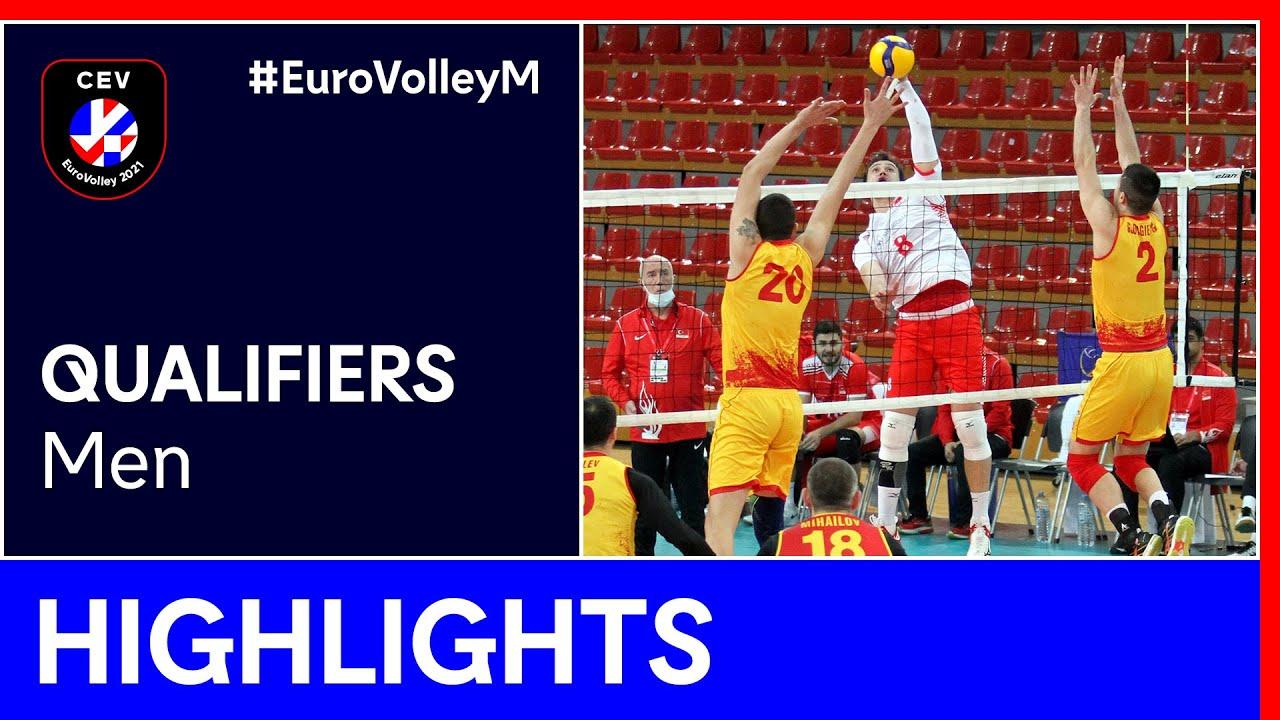 Turkey vs. North Macedonia Highlights - #EuroVolleyM Qualifiers