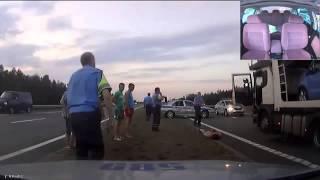 Видео   Полная версия погони за дальнобоем   Видеоролики на Sibnet