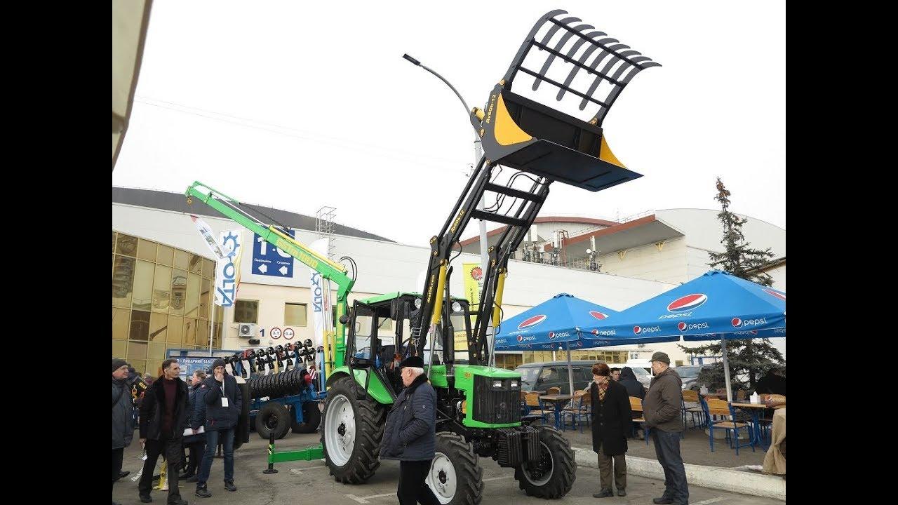 Трактор Кий МТЗ с уникальным украинским погрузчиком Дубок