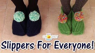 Easy Wrap Slippers for the Whole Family!