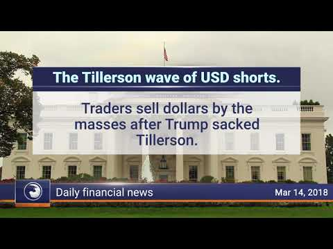 Daily Market Review, March 14th 2018: The Tillerson wave of USD shorts
