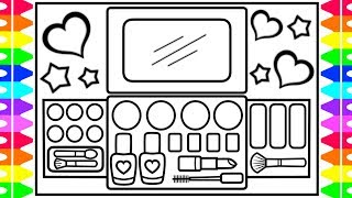 How to Draw a Makeup Kit for Kids 💄💅💜💚💖Makeup Kit Drawing | Makeup Kit Coloring Pages for Kids