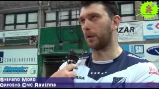03-03-2013: Intervista a Stefano Moro nel post NewMater-Ravenna 3-1