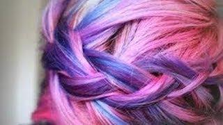 Tiñe tu pelo con tizas de colores