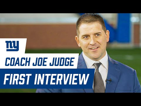 Joe Judge FIRST INTERVIEW as Giants head coach | New York ...