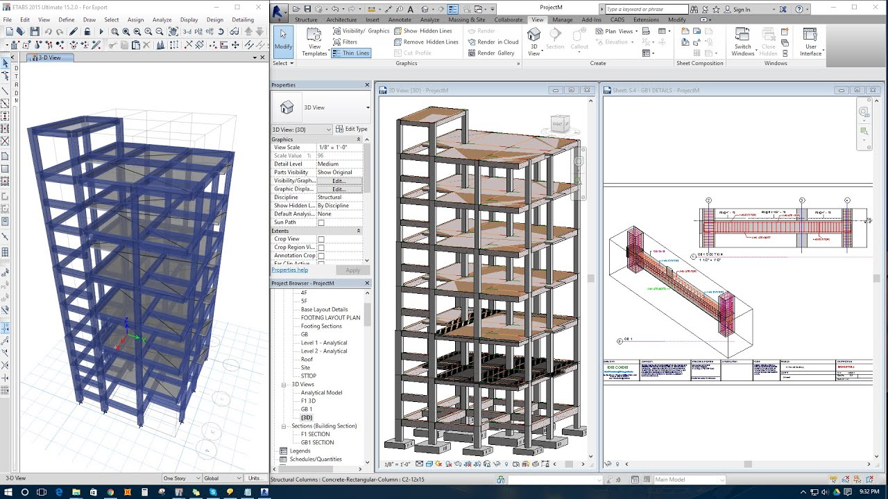 3d Wallpaper Making Software Free Download Export Model From Etabs To Revit Structure For Detailing