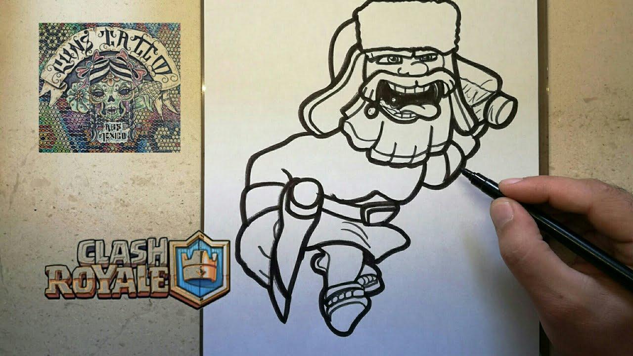 Como Dibujar Al Leñador Clash Royale How To Draw Lumberjack Clash Royale