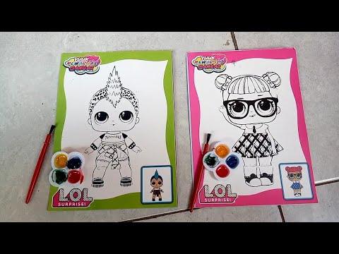 Belajar mewarnai gambar LOL Surprise | coloring book for ...