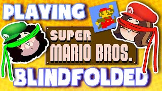 Playing Super Mario Bros. BLINDFOLDED!
