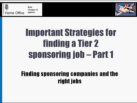 Important strategies for finding a Tier 2 sponsorship job - Part 1