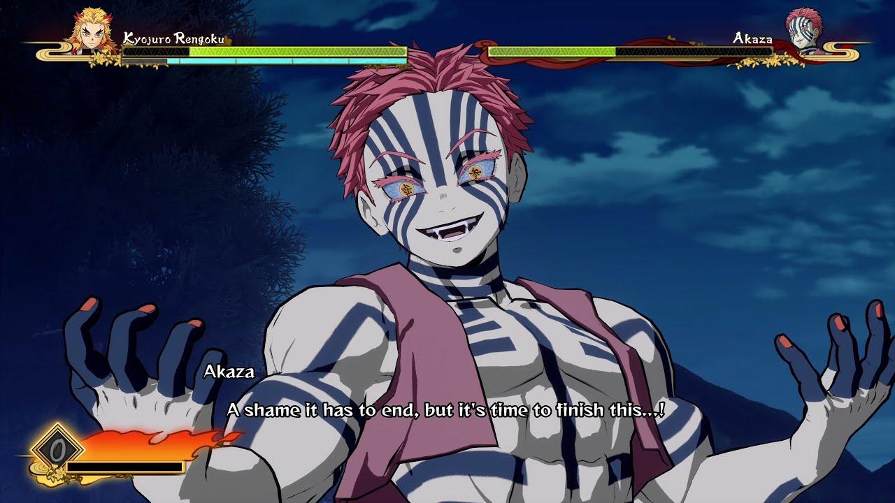 Demon Slayer Hinokami Chronicles - Rengoku vs Akaza Boss Battle Gameplay (ENG DUB) (4k 60fps)