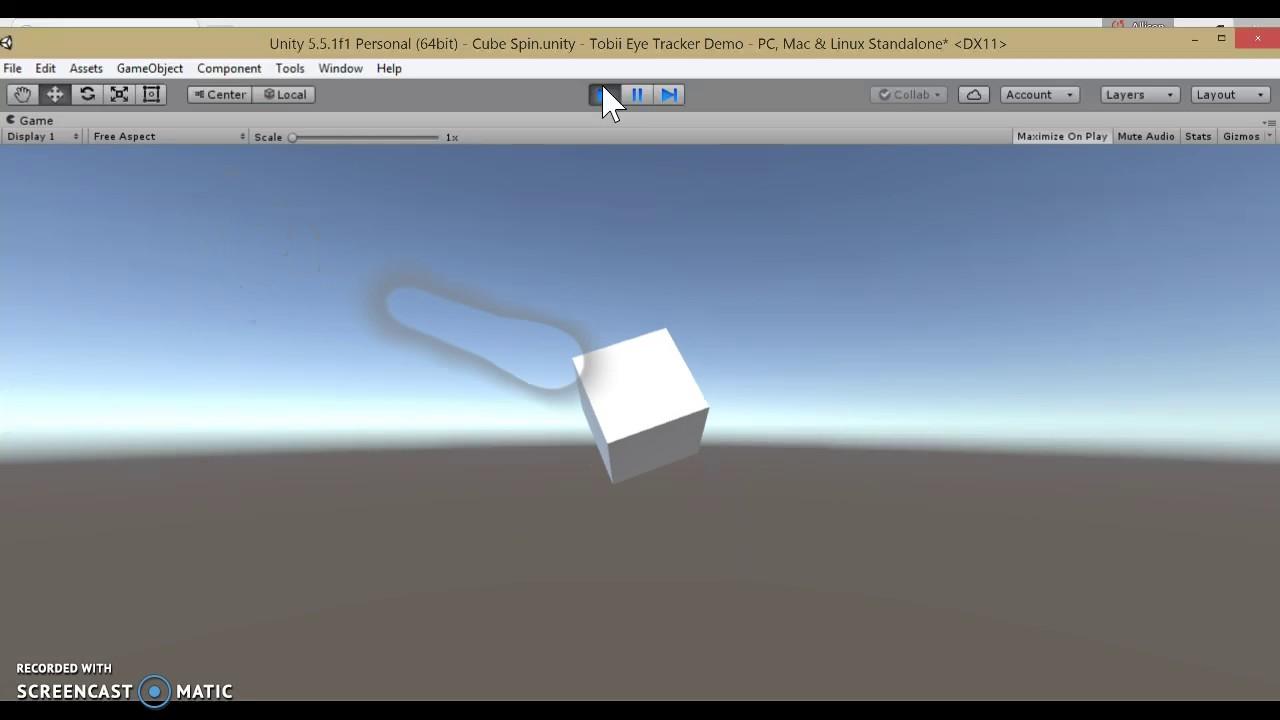 Tobii Eye Tracker Unity Test