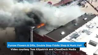 Two businesses a total loss in Saturday fire in downtown Guthrie