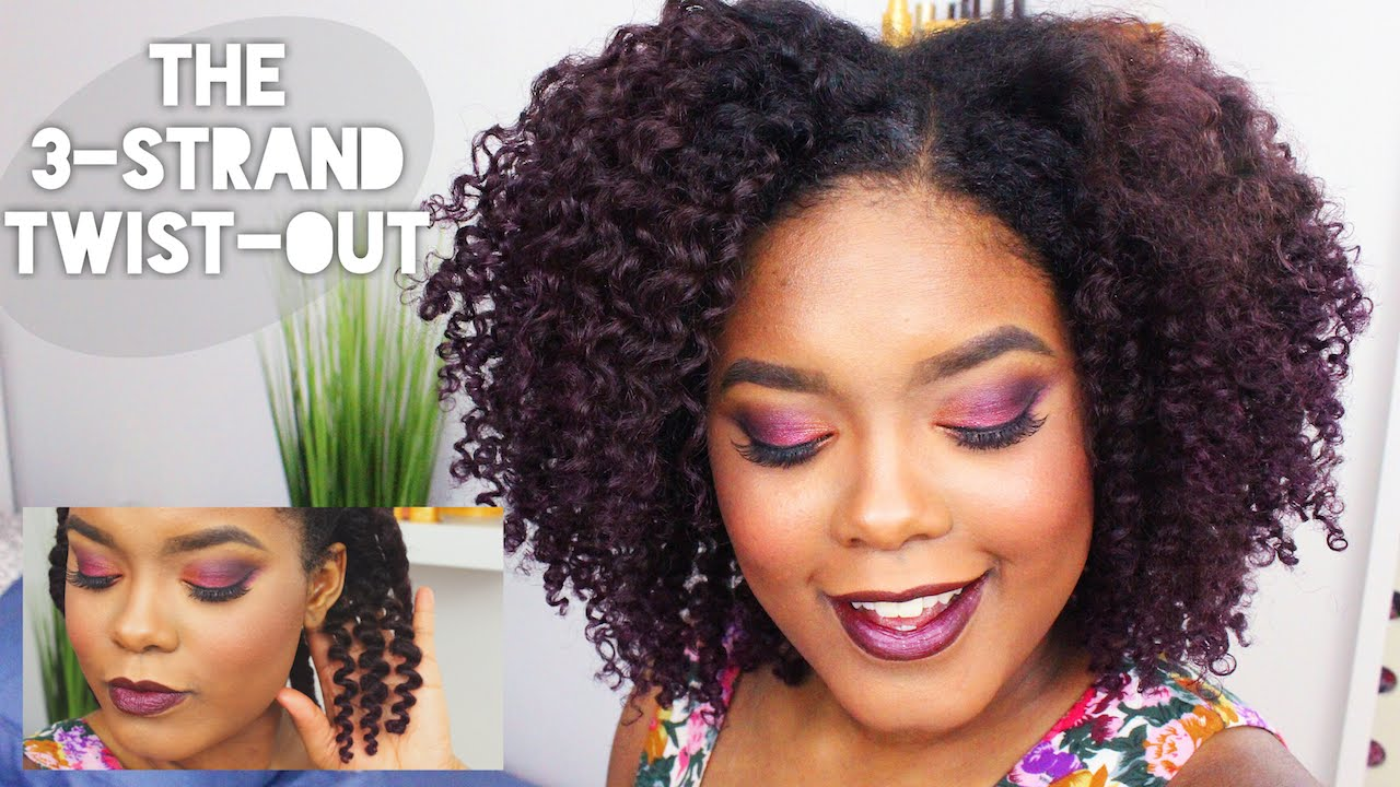 All Natural Hair Styles: The 3 Strand Twist-Out - YouTube