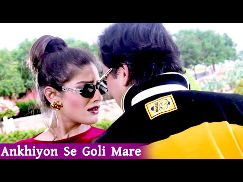 Ankhiyon Se Goli Mare ((( Staru0026mp3 Hindi ))) HD, Dulhe Raja (1998) Jaspinder Narula, Sonu Nigam