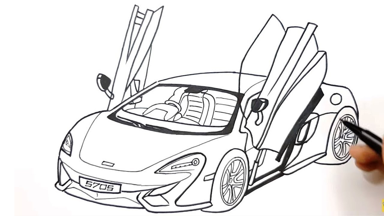 How To Draw A Lamborghini Car Step By Step Luxury Sports Cars Drawing Youtube