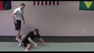 foot jab round kick defense