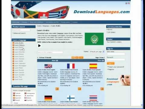 Download language course in mp3 from DownloadLanguages.com