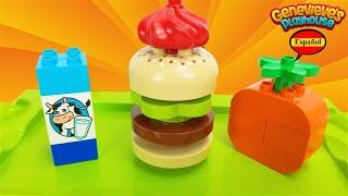 ¡Vamos a abrir nuestra propia tienda de hamburguesas con Lego Duplo Food Bricks!