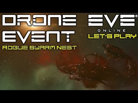 Let's Play EVE Online: Rogue Swarm Nest. Drone Event Sites // PVE Gameplay // + INJECTOR GIVEAWAY!
