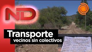 La falta del transporte interurbano en Córdoba