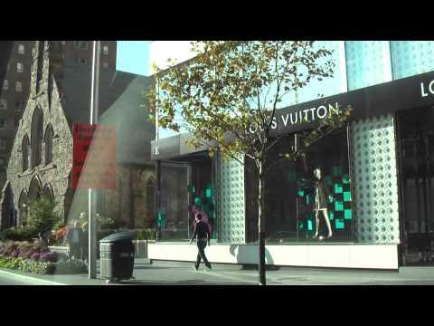 Toronto Bloor Street Luxury Shopping (October, 2013)