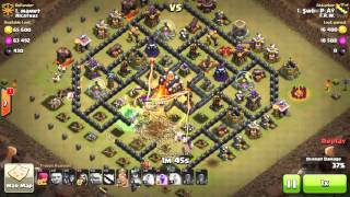 Clash of clans MAXD TH10 WAR ATTACK GOWIWI, HOW TO GET STARS ON MAXD TH10