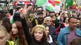 Protesting The Turkish State Invasion Of Rojava   London.