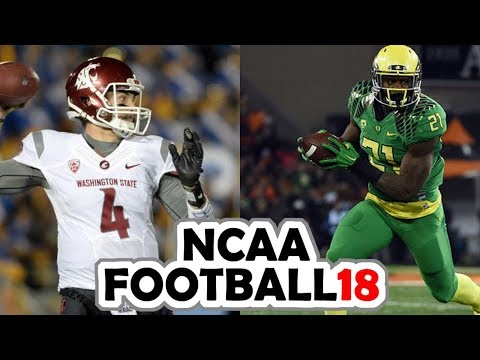 Washington State @ Oregon - 10-7-17 NCAA Football 18 Week 6 Simulation (UPDATED ROSTERS)