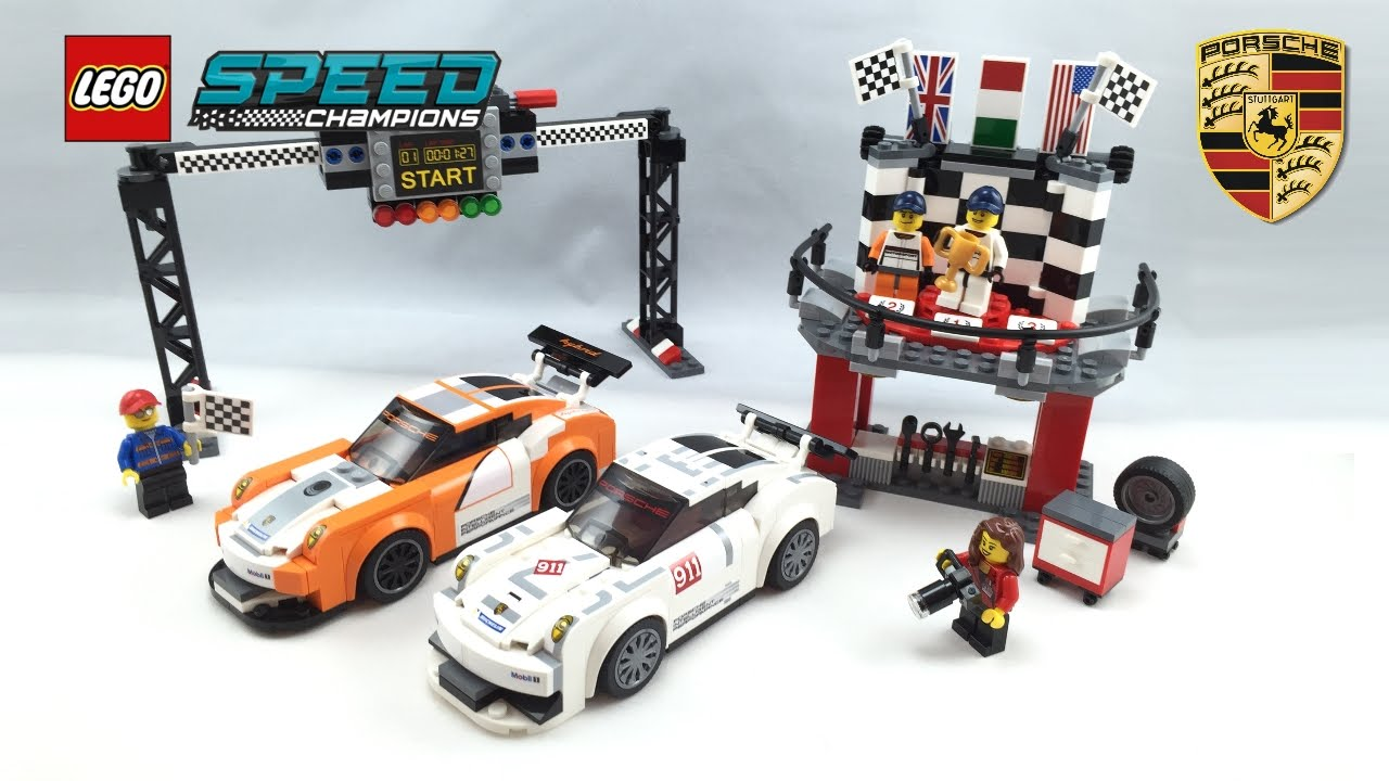 lego porsche 911 gt finish line speed champions set review. Black Bedroom Furniture Sets. Home Design Ideas