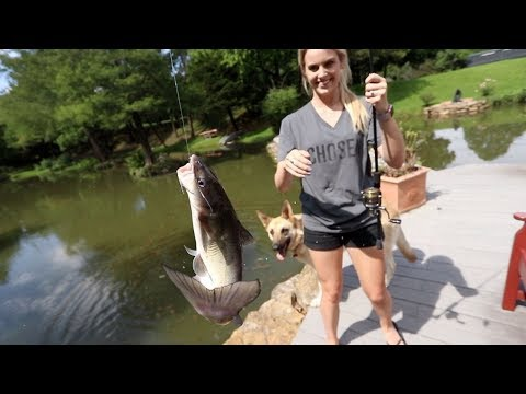 I Took My Wife Fishing!! SMOKED CATFISH! {Catch Clean Cook}
