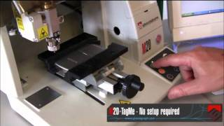 Gravograph M20 Machine Engraving a Cell Phone with TagMe Software