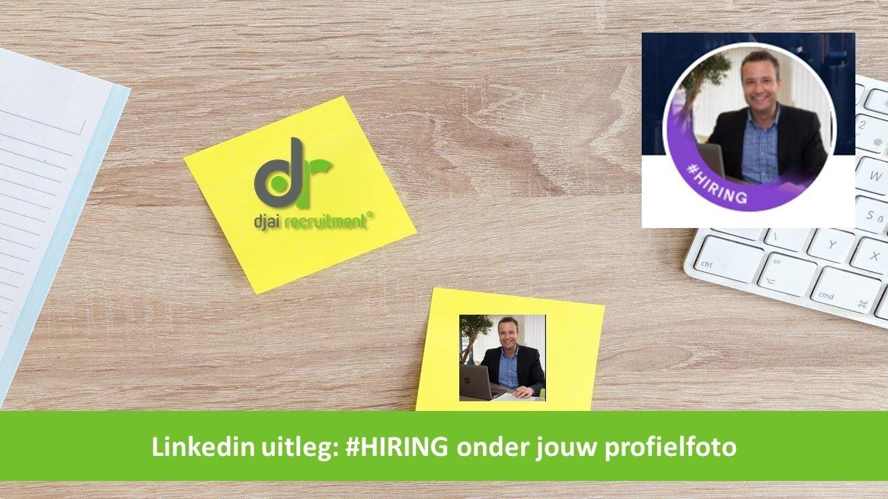 #hiring op Linkedin