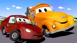 Baby Jerry the RACING CAR drove too fast!  - Tom the Tow Truck in Car City Street Vehicles for Kids