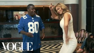 Kate Upton and Tracy Morgan's Super Bowl Touchdown Dance—Vogue